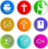 Christelijke tekenpictogrammen Royalty-vrije Stock Foto