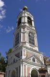 Christelijke tempel met koepels Royalty-vrije Stock Afbeeldingen