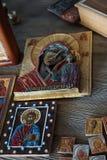 Christendom van het de godsdienst het godsdienstige geloof van de pictogramikoon royalty-vrije stock foto