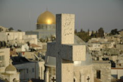 Christendom versus islam Royalty-vrije Stock Foto's