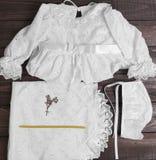 Christening baby white Stock Photos