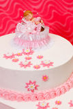 Christening cake for girl Stock Photo