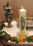 Christening candle Royalty Free Stock Photo