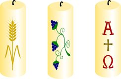 Christening candles. Stock Photo