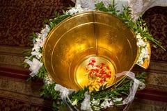 Christening chrzcielnica Zdjęcia Royalty Free