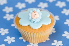 Christening Cupcake Stock Photography