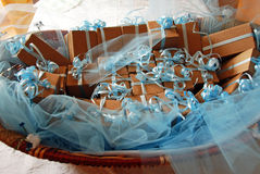 Christening gifts. A lot of baptized gifts Stock Images