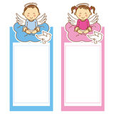 Christening girl and boy Royalty Free Stock Images