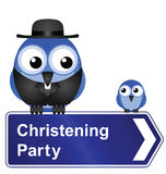 Christening Party sign Stock Image