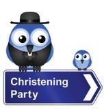 Christening Przyjęcia znak Obraz Stock