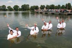 christeningvatten Arkivfoton