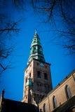 ChristianÂs kyrklig kristenkyrka i Köpenhamn Arkivfoto
