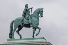 Christian国王骑马雕象IX丹麦 免版税库存图片
