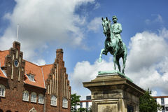 Christian 10 statue, Esbjerg Royalty Free Stock Photo