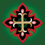 Christian Anchor Holy cross with blood Royalty Free Stock Images