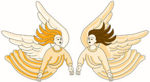 Christian Angels Flying illustration de vecteur