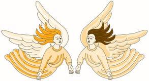Christian Angels Flying vector illustration
