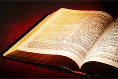 Christian. Antique bible book brown chapter christ Royalty Free Stock Image