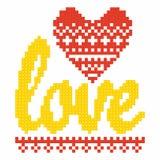 Christian Art Briques en plastique de verrouillage colorées, construction en plastique Amour illustration stock