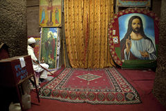 Christian art, Lelibela Stock Image