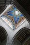 Christian art in the roof cupole of Almudena cathedral in Madrid, Spain Royalty Free Stock Photos