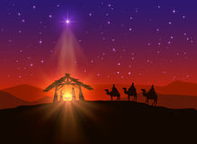 Christian background with Christmas star Royalty Free Stock Photos