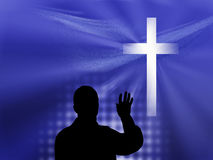 Blue Christian Background Stock Photo