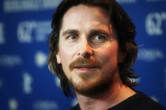 Christian Bale. BERLIN, GERMANY - FEBRUARY 13: Christian Bale attends 'The Flowers of War' Press Conference during of the 62nd Berlin Film Festival at the Grand Royalty Free Stock Photo