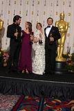 Christian Bale,Colin Firth,Melissa Leo,Natalie Portman Stock Photos