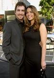 Christian Bale und Sibi Blazic stockfoto