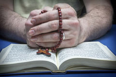 Christian believer praying to God Royalty Free Stock Photography