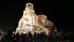 Christian believers Aleksander Nevsky Easter stock video