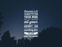 Christian Bible quote royalty free stock image