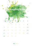 Christian bible verse 2017 calendar with colorful paint theme Royalty Free Stock Photos