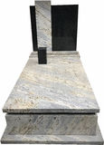Christian blank marble gravestone Royalty Free Stock Photos