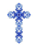 Christian blue sapphire crystal diamond cross Royalty Free Stock Photo