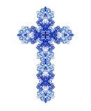 Christian blue sapphire crystal diamond cross royalty free stock photo