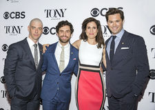 Christian Borle, Brandon Urananowitz, Stephanie J. Block, and Andrew Rannells Royalty Free Stock Photography