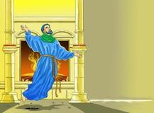 Christian Calendar  idea page. Santo santa chriistian concept table calendar and storybook christian children Stock Images