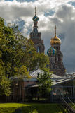 Christian Cathedral i Ryssland Arkivbild