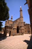 Christian cathedral rebuilt in mosque, Famagusta, northern Cyprus. The Christian cathedral rebuilt in mosque, Famagusta, northern Cyprus Royalty Free Stock Image