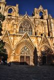 Christian cathedral rebuilt in mosque, Famagusta, northern Cyprus. The Christian cathedral rebuilt in mosque, Famagusta, northern Cyprus Royalty Free Stock Photo
