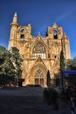 Christian cathedral rebuilt in mosque, Famagusta, northern Cyprus. The Christian cathedral rebuilt in mosque, Famagusta, northern Cyprus Stock Image