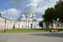 Christian cathedral. Saint Sophia Cathedral. Detinets Kremlin in Veliky Novgorod. Religion Royalty Free Stock Photos