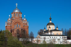 Christian cathedrals in Pokrovskiy Hot'kov nunnery Stock Photo