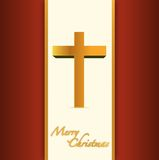 Christian or catholic merry christmas card. Stock Photo