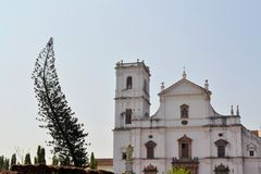 Christian Catholic Se cathedral in Old Goa, India Stock Image