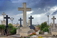 Christian Cemetery Royalty Free Stock Photography