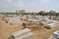 Christian cemetery, Karachi Stock Photo