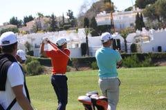 Christian Cevaer bij Andalucia Open Golf, Marbella Stock Foto